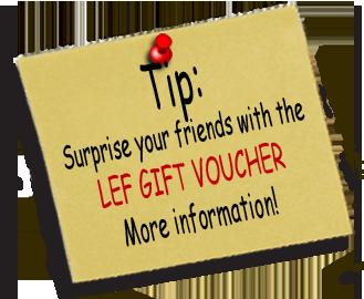 TIP! Geef je vrienden een avondje uit met de LEF cadeaubon