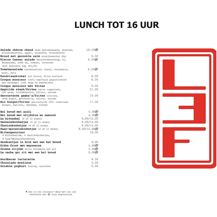 preview of lunch menu
